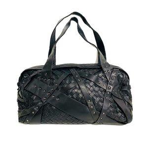 Bottega Veneta Nero Intrecciato Satchel Bag Black